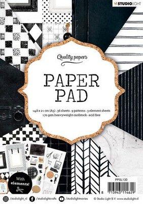 Studio Light Paper Pack A5 - Black/White Nr. 130