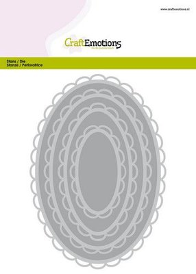 CraftEmotions Big Nesting Die - Oval Scalop XL