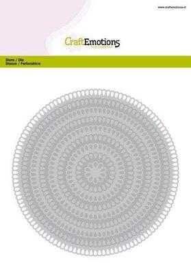 CraftEmotions Big Nesting Die - Circles Scalop XL Drop