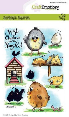 CraftEmotions Clearstamp A6 - Chicken 1
