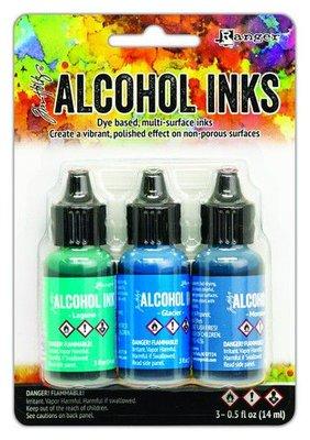 Ranger Alcohol Ink Kit - Teal/Blue Spectrum TAK69669