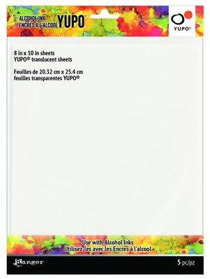 Ranger Alcohol Ink Yupo Paper - Translucent - 8 x 10 inch TAC69751