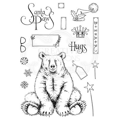 Creative Expressions Pink Ink Clear Stamp A5 - Bear Hugs