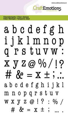 CraftEmotions Clearstamp A6 - Alphabet Typewriter Lowercase
