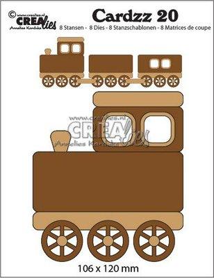 Crealies Cardzz no. 20 - Train