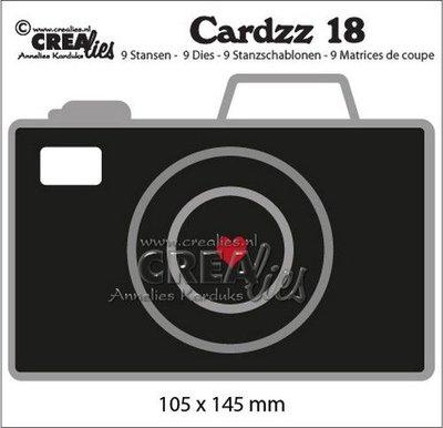 Crealies Cardzz no. 18 - Camera