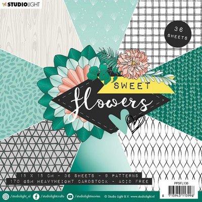 Studio Light Paper Pack 15 x 15 cm - Sweet Flowers no. 138 (pre-order)