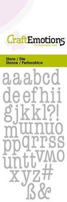 CraftEmotions Die - Alphabet Typewriter Lowercase (pre-order)