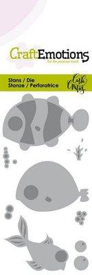 CraftEmotions Die - Ocean Fish (pre-order)