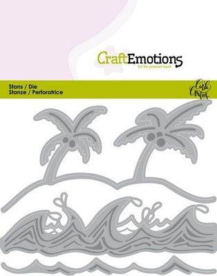 CraftEmotions Die - Ocean Palms Beach Waves (pre-order)