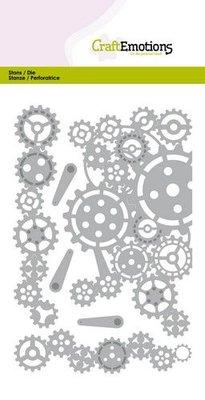 CraftEmotions Die - Gears Edges and Corner (pre-order)