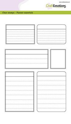 CraftEmotions Clearstamp A5 - Planner Essentials Frames