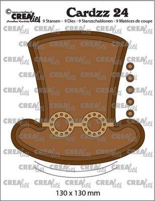 Crealies Cardzz no. 24 - Steampunk Hat + Glasses