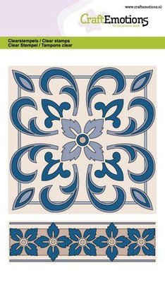 CraftEmotions Clearstamp A6 - Tile 1