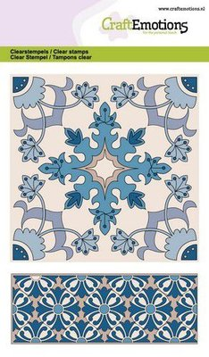 CraftEmotions Clearstamp A6 - Tile 2