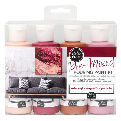 American Crafts Pouring Paint Kit - Amber