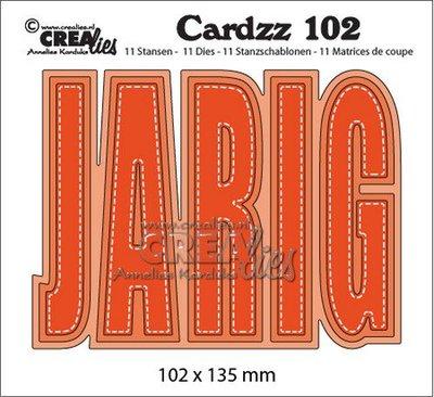 Crealies Cardzz no. 102 - Jarig