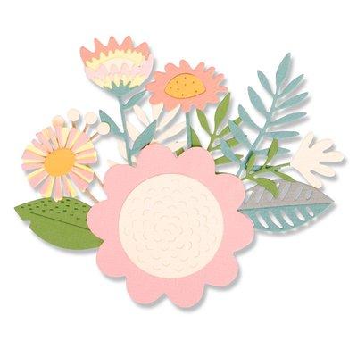 Sizzix Thinlits Die - Floral Tropics 663854
