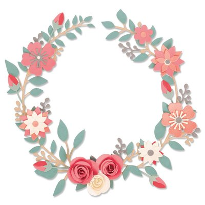 Sizzix Thinlits Die - Wedding Wreath 663862