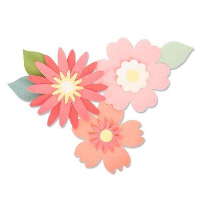 Sizzix Bigz Die - Bold Blossoms 663849