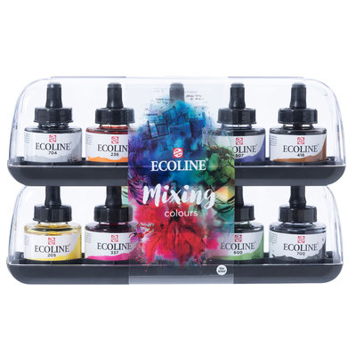 Talens Ecoline Vloeibare Waterverf 10 x 30 ml - Mixing Colours