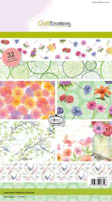 CraftEmotions Paper Pack A5 - Botanical Summer OP=OP
