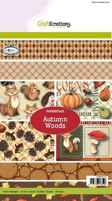 CraftEmotions Paper Pack A5 - Autumn Woods OP=OP
