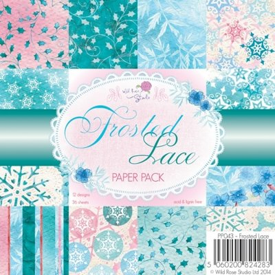Wild Rose Studio Paper Pack 6 x 6 - Frosted Lace PP043 OP=OP