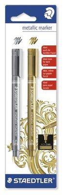 Staedtler Metallic Marker - Goud & Zilver 8323-S BK2