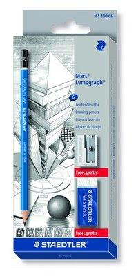 Staedtler Mars Lumograph Potlood - Set van 6 61 100 C6