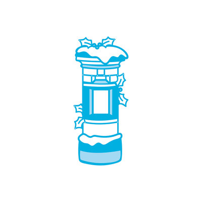 Tonic Studios Rococo Die Christmas - Snowy Postbox 1377E OP=OP