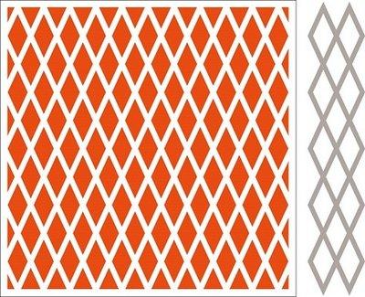 Marianne Design Embossing Folder & Stansmal  - Diamonds DF3410