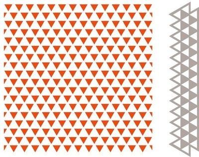 Marianne Design Embossing Folder & Stansmal  - Driehoeken DF3428
