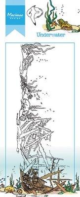 Marianne Design Stempel - Border Onderwater HT1620