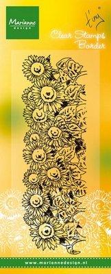 Marianne Design Stempel - Border Sunflowers TC0836