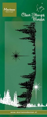 Marianne Design Stempel - Border Pinetrees TC0843