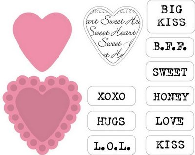 Marianne Design Collectable - Candy Hearts GB COL1307