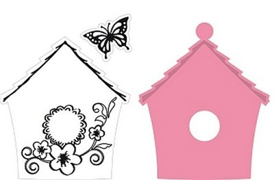 Marianne Design Collectable - Birdhouse Flowers COL1308