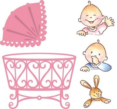 Marianne Design Collectable - Eline's Baby Crib COL1313