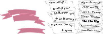 Marianne Design Collectable - Banners with Christmas Text COL1325