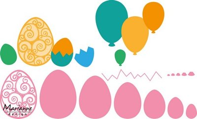 Marianne Design Collectable - Easter Eggs COL1425