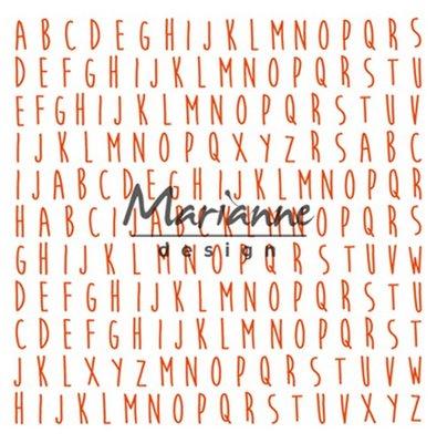 Marianne Design Embossing Folder  - Achtergrond ABC DF3437