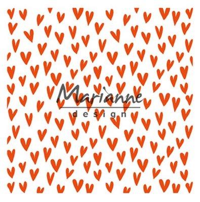 Marianne Design Embossing Folder  - Trendy Hartjes DF3438