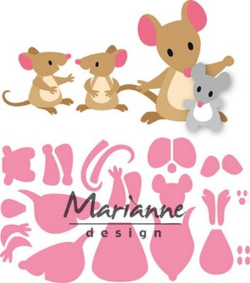 Marianne Design Collectable - Eline's Mice COL1437