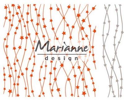 Marianne Design Embossing Folder  - Hemelse Sterren DF3439