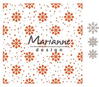 Marianne Design Embossing Folder  - Sneeuw- en Ijskristallen DF3440
