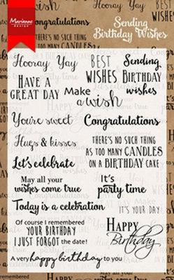 Marianne Design Stempel - Birthday Wishes CS0996