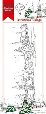 Marianne Design Stempel - Border Kerstdorp HT1625