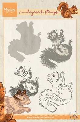 Marianne Design Stempel - Eekhoorn Layering TC0856