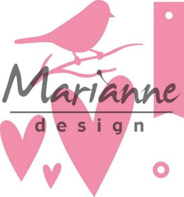 Marianne Design Collectable - Giftwrapping Bird's Heart COL1443